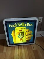 Rare Old Style Beer Reach For The Best Bar Sign Light 19x20x8