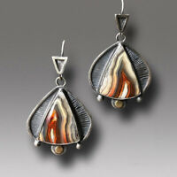 Personality 925 Silver Agate Ear Hook Drop Dangle Earrings Women Jewelry Gift