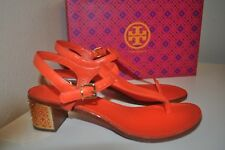 48cfb9904f1d NIB Tory Burch AUDRA 45 Block Heel Strappy Sandal Ankle Tiger Lily Orange  9.5 M