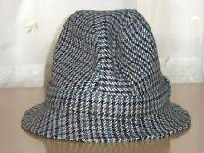 VINTAGE KANGOL GREY TWEED BUCKET TRILBY HAT Size X L WINTER 0053f8967392