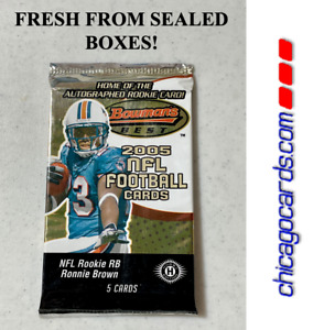 2005 Bowman's Best FB HOBBY Pack Look4 Aaron Rodgers Alex Smith Rookie RC AUTO