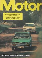 Motor magazine 15 June 1974 featuring Renault, Vauxhall Victor road test