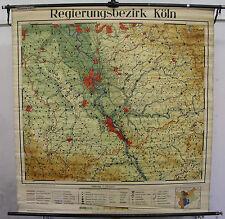 Scheda crocifissi muro mappa COLONIA Kölle Kölsch Reno Bonn patria carta 141x146 Map