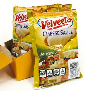 6 Pack VELVEETA Cheese Sauce JALEPENO Flavor 4oz. Size Pouch Packets Exp 04/21