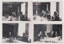 (F18657) 4x Orig. Foto Verlobungsfeier, Wohnung in Stuttgart 14.4.1935