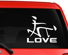 """Funny Love Sign on car truck SUV decal sticker 6"""" White"""
