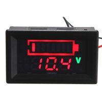 12V Lead Acid Battery Status Indicator Capacity Dual LED Display Meter Y6D5