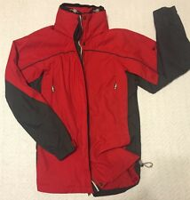 Women's Red & Gray Columbia Jacket Windbreaker Size S Small Spring Authentic!!!