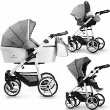 VENICCI 3 IN 1 TRAVEL SYSTEM PURE COLLECTION IN DENIM GREY BNIB