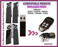 Liftmaster TX2EV/TX4EV/TX2EVS/TX4EVS/TX 4 Unis control remoto compatible