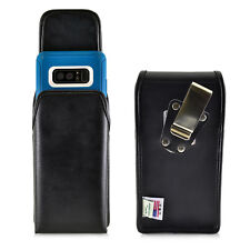 Turtleback Galaxy Note 8 Vertical Leather Case for Otterbox DEFENDER Metal Clip