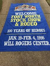 1996 100 Year Fort Worth Fat Stock Show And Rodeo  Banner Large 14 X 8 Feet