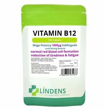 Lindens Vitamin B12 Tablets 1000MCG High Strength Immune System Supplement