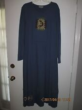 WOMEN'S PLUS SIZE CLOTHING NEW Size 1X Maxi Blue Dress New
