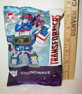 WENDY'S KIDS HAPPY MEAL TOY TRANSFORMERS SOUNDWAVE TOY 3+ YEAR 2019