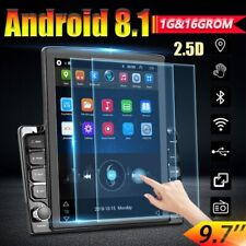 9.7'' 2Din Android 8.1 HD Car Stereo Radio Vertical Screen 2.5D Tempered Mirror