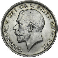 1915 HALFCROWN - GEORGE V BRITISH SILVER COIN - SUPERB