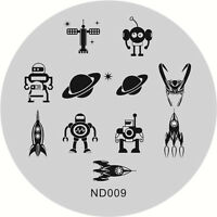 NICOLE DIARY Nail Art Stamping Image Plates Stencil   Planet Design