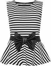 Sleeveless Striped Polyester Tops & Shirts Plus Size for Women
