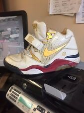 316274-171 Nike Air Force 180 Wht/Gold Barkley Finish Line 25th Anniversary-90P
