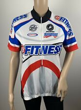 Castelli Squadra 24 Hour Fitness Men's White/Blue/Red/Black Cycling Jersey Med