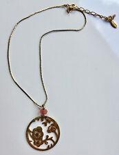 PILGRIM Kurze Hals-Kette gold mit Kirschblüten-Anhänger  36-42cm *neuwertig