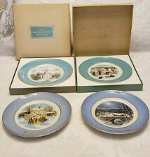 Avon Vintage Christmas Plates Set of 4