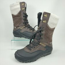 MERRELL Women's Aurora Tall Ice+ Waterproof Leather Size 8.5 Brown Snow Boots