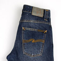 Nudie Jean Hommes Slim Jim Jeans Moulant Taille W29 L30 AOZ1140