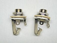 (2) ¼ in. TR Chassis Mount Female Jacks.  Mono.