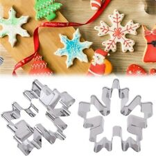 Christmas Snowflake Stainless Steel Biscuit Pastry Cookie Cutter Cake Decor DP ~