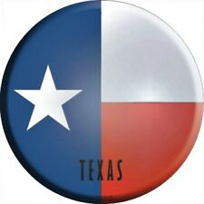 "TX Texas State Flag 12"" Round Metal Sign US Patriotic Man Cave Decor Americana"