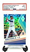 2018 Phoenix Aqua Refractor /299 Braves RONALD ACUNA JR Rookie Card PSA 9 MINT