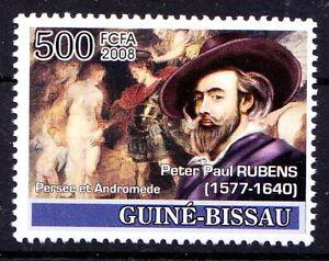 Guinea Bissau 2008 MNH, Rubens, Painting, Andromeda princess Ethiopian, Perseus