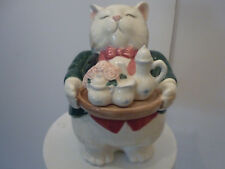 Cat butler holding cookies Figurine Fitz and Floyd