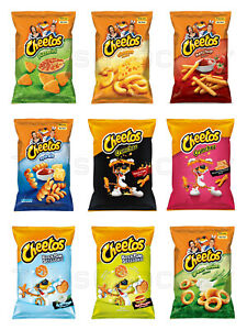 CHEETOS Snack Chips Mix Pizza, Cheese, Hamburger, Ketchup, Chili Flavors
