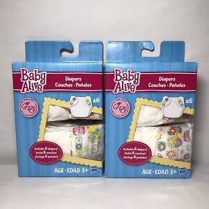 Baby Alive Diaper Refill Packs - 11 Diapers Total *Read Description*