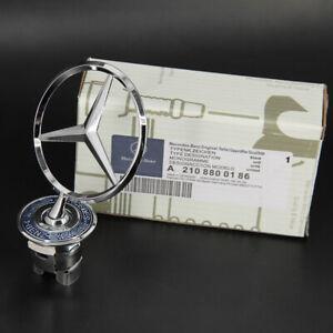 For Mercedes-Benz OEM Front Hood Ornament Mounted Star Logo Badge Emblem