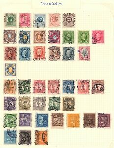 Sweden. Stockpage with 41 early issues.