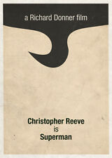 A4 Poster-Superman 1978 (Foto de película de cine, DVD, Blu-ray Christopher Reeve)