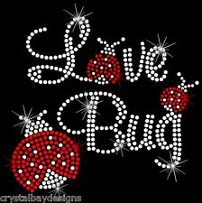 Love Bug Ladybug Cute Child  Rhinestone Bling Transfer Hot Fix 52-07