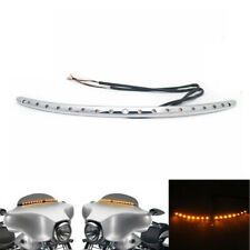 LED Windshield Trim Turn Signal Light For Harley Touring Electra Glide 2014-2018