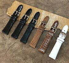 Size 20mm(buckle 16mm) Real Crocodile Alligator Exotic Skin Watch Strap Band 133