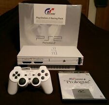 PS2 PlayStation 2 Racing Pack Ceramic White w/GT4 Prologue NTSC-J RE 2(Japanese)