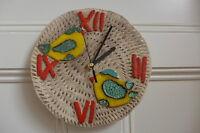 Clock Hand Made Ceramic Wall Clock Beautiful Birds Design Wall Art Unique