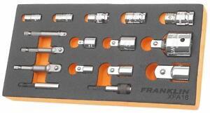"Franklin Tools XFA16 XF 16 pce Bit Holder and Socket Adaptor Set 1/4"" upto 1/2"""