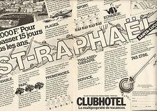 Publicité Advertising 1982 (Double page) CLUBHOTEL multipropriété de vacances