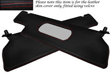 RED STITCH FITS RENAULT ALPINE GTA V6 2X SUN VISORS LEATHER COVERS ONLY