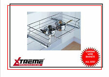 Kitchen Chrome Wire Basket to suit 800mm, Pull Out Storage Bedroom Wardrobe