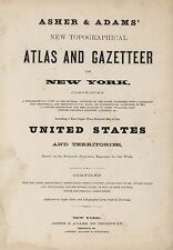 1870 NEW YORK STATE ATLAS map old GENEALOGY GHOST TOWNS TREASURE HUNTING DVD S10